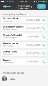 Get Your Emergency Contacts Into Your Sitter's Phone!