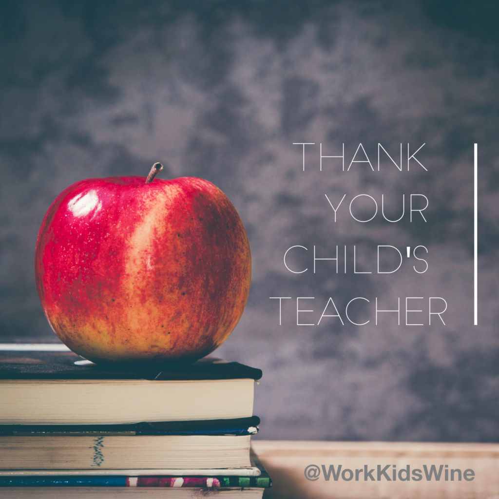 Teacher ThankYou Letter  Work Kids Wine