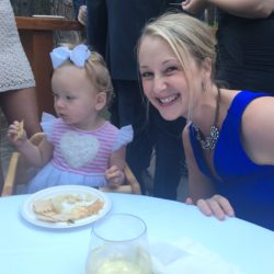 Baby doesn't care about photo opps. She only cares about appetizers.