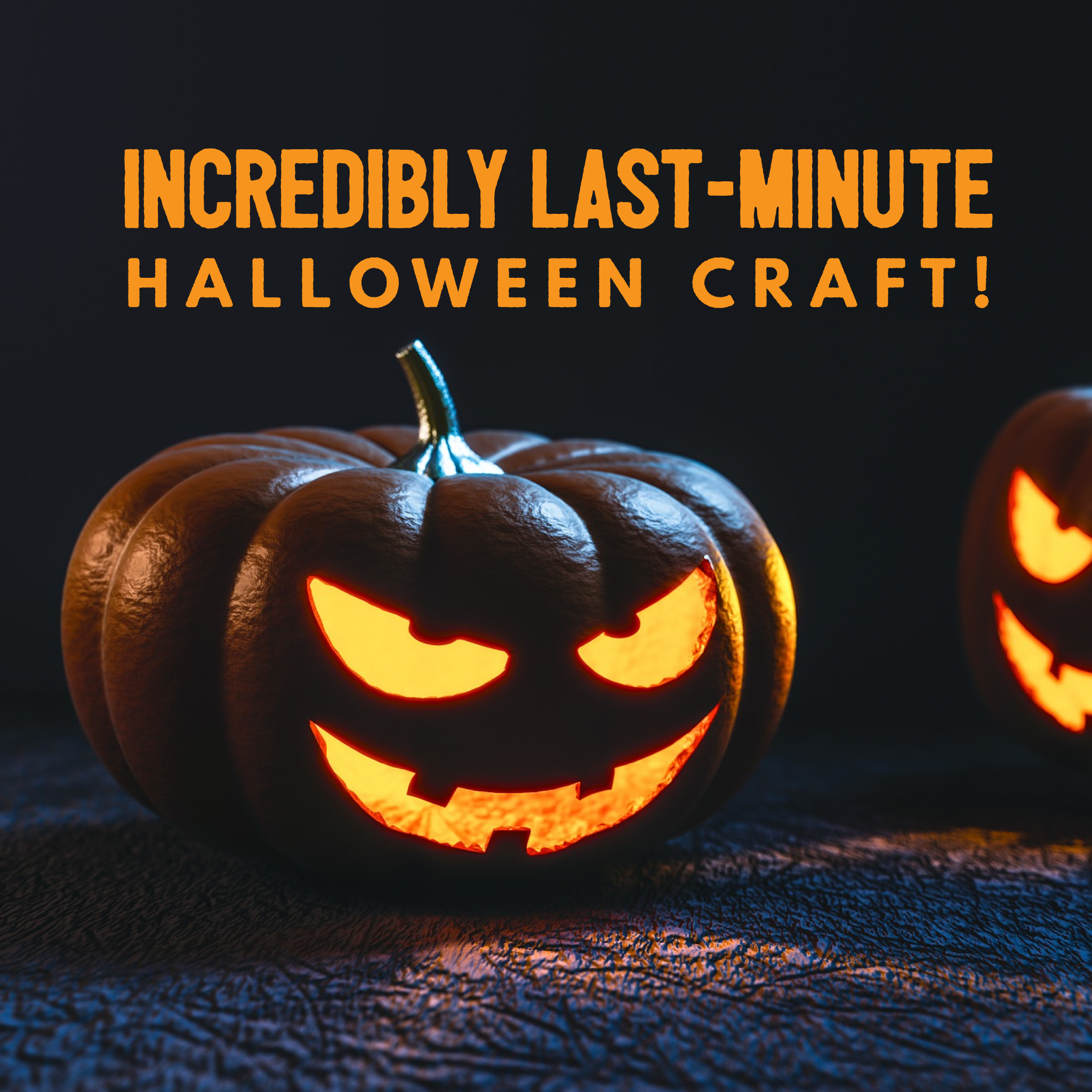 incredibly last minute halloween craft